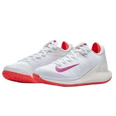 official photos 8e025 0a539 Nike Air Zoom Zero HC Women s Tennis Shoes White Racquet Racket NWT AA8022- 101