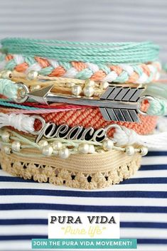 Bohemian Stacked Bracelets // Pura Vida made in Costa Rica