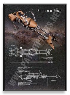 Speeder Bike, Star Wars Poster