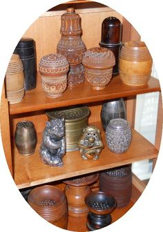 Pounce Pots/Sanders.  Judith Walker's Collection