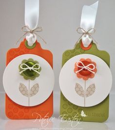 Gift Tags for The Stamp Spot: August 2012 Patrice Easton | Spring Blossom Musings | PTI Flower Fusion