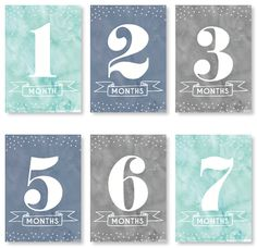 Baby Milestone Cards - Cloudy