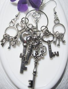 Skeleton keys.... enough said, I have made SOO many little gifts from these. ENOUGH SAID, they were all immediately loved...