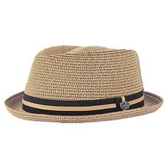 Ron Jon Short Brim Fedora Hat w/ Pin - Mens Headwear
