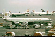 Air Vietnam B-707 in Tokyo Airport. Circa 1970's.