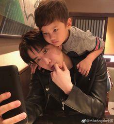 So adorable same like father Korean Babies, Asian Babies, Asian Boys, Father And Baby, Dad Baby, Mike D Angelo, My Amazing Boyfriend, Mike Love, Korean People