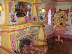 Fireplace in Minnie's house - Disney World