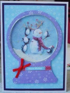 Lorraine Lives Here: Christmas snow globe cards...