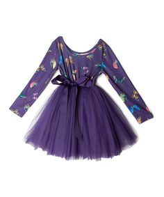 Another great find on #zulily! Designer Kidz Purple Butterfly Tutu Dress - Toddler & Girls by Designer Kidz #zulilyfinds