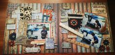 Had allot of fun with this layout. My Scrapbook, Scrapbooking, 2nd Birthday, Stencils, Layout, Fun, Crafts, Painting, Inspiration