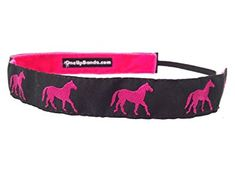 One Up Bands Women's Hot Pink/Black Horses One Size Fits Most Review