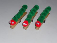 caterpillar clothespins. Goes great with  The very Hungry Caterpillar