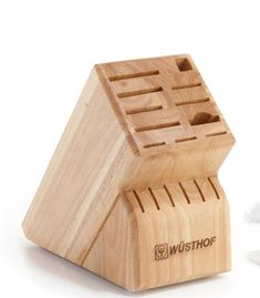 WusthofKnife Block is the perfect way to keep your collection of Wusthof knives at hand. In addition to 9 slots for a variety of knife sizes, you'll have a slot for Wusthof Kitchen Shears and Honing Steel, as well as 6 steak knives. Available in Beech. Wusthof Knives, Knife Block Set, Steak Knives, Slot, Steel, Kitchen, Collection, Cooking, Kitchens