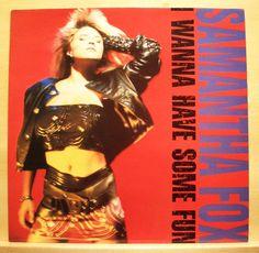 SAMANTHA FOX - I wanna have some fun - near mint - nm - Vinyl LP
