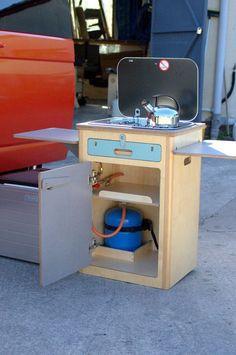 Motorhome cooker pod, suitable for VW or any other size camper . Vw T5, Truck Camper, Mini Camper, Interior Trailer, Campervan Interior, Kombi Trailer, Camper Trailers, Rv Campers, Minivan