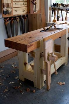 Work bench, beautiful thing!: #WoodworkingBench