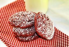 Red Velvet Cookies.  Perfect for Valentine's Day