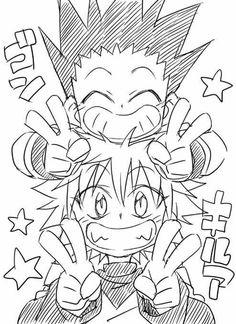 Hunter x Hunter Anime Guys, Manga Anime, Anime Art, Hunter Anime, Hunter X Hunter, Art Drawings Sketches Simple, Cute Drawings, Anime Character Drawing, Character Art