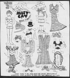 The designer Betsey Johnson ran several paper doll advertisements, many of which appeared in Mademoiselle magazine. From the styles, I woul. Colorful Fashion, Retro Fashion, Vintage Fashion, Betsey Johnson, Vintage Images, Retro Vintage, Mademoiselle Magazine, Alley Cat, Seventeen Magazine