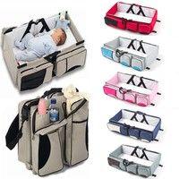 Crib 3 in 1 portable crib travel bag diaper bag multi-function Mummy bag folding