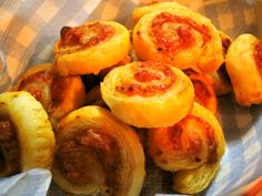 Pizza-Flavored Rolled Puff Pastries