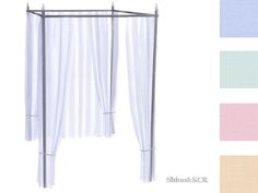 ShinoKCR's Curtains and Canopy's - Canopy Doublebed Bar Black Silver