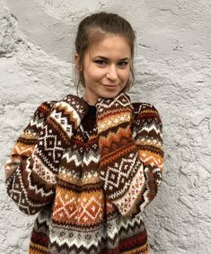 Fair Isle Sweater Norwegian sweater Dress Oversized Sweater Source by morthunder Dresses oversized Tejido Fair Isle, Fair Isle Pullover, Icelandic Sweaters, Casual Outfits, Cute Outfits, Fair Isles, Fair Isle Knitting, Sweater Making, Fair Isle Pattern