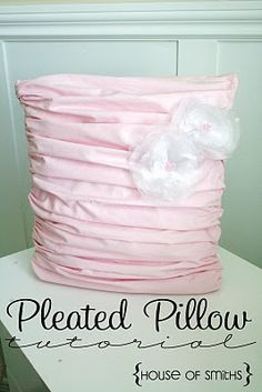 tutorial - pleated pillow