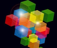 Abstract Squares Background Vector 03