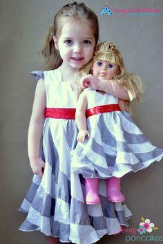 Mini Peppermint Swirl Dress Sewing Pattern