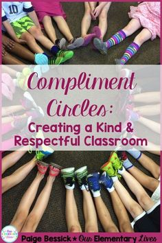 Compliment Circles: Creating a Kind & Respectful Classroom-Teach your students how to give and receive compliments. A great activity to build character for your classroom. Perfect for any grade, this character development activity is sure to be a hit and change your classroom into a kind and respectful place.
