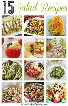 15 Salad Recipes perfect for those summer lunches and dinners!
