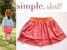 Tutorial: Simple layered jersey skirt · Sewing | CraftGossip.com