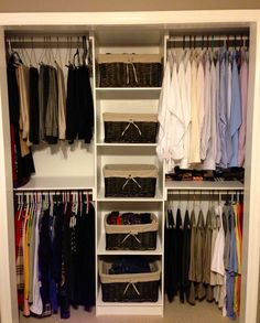 Simple Closet Organizer | Do It Yourself Home Projects from Ana White - I think this is a pretty cool idea behind doing our own custom closets