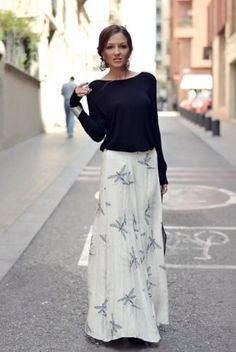 NWT-ZARA-2015-Long-printed-skirt-maxi-dragon-Fly-skirt-size-XS-S-M-L-bloggers