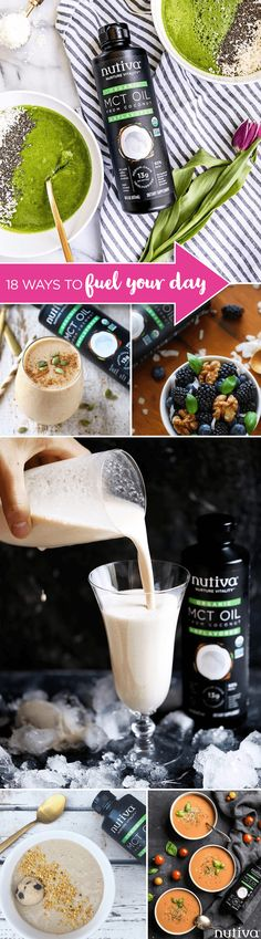 18 Ways to Fuel Your Day kitchen.nutiva.com Nutiva Orgnic MCT Oil