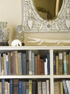 Bookshelves in Agatha Christie's Bedroom at Greenway
