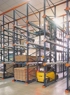 Drive-in pallet racking - This system is base on the storage by accumulation principle, which enables the highest use of available space in terms of both area and height.