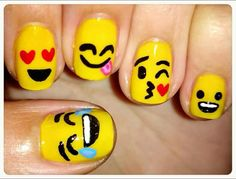Winnie the Pooh and Bee Nails Picture from Nail Designs. Winnie The Pooh inspired Nails Fancy Nails, Pretty Nails, Nail Art Jaune, Do It Yourself Nails, Nailed It, Nails For Kids, Cute Nail Art, Yellow Nails, Pink Nail