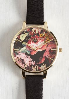 After Flowers Watch. Its a given that this Olivia Burton watch is workday chic, but you better believe its also late night lovely! #black #modcloth