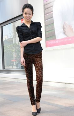 Stylish Leopard Pattern Women's Skinny Pant on BuyTrends.com, only price $11.07