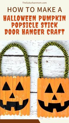 Ghostly greetings! Halloween is coming way with October slowly rushing in! Prepare for the spooky season with this festive craft! Check out the blog for more details on How To Make A Halloween Pumpkin Popsicle Stick Door Hanger Craft. This popsicle stick craft counts as a Halloween DIY craft, Halloween activity, Halloween decoration, a Halloween craft, a craft idea for kids, a Halloween party decoration all rolled into one! This easy craft idea will surely make your house fit the season!