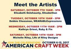 #AmericanCraftWeek #ACW2017 #AmericanCraftWeek2017 Small Business Help, Small Business Saturday, Small Business Marketing, Social Media Tips, Social Media Marketing, Digital Marketing, Meet The Artist, Instagram Tips, Pinterest Marketing