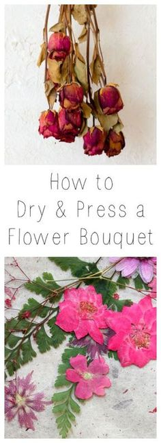 Make that gift of flowers last event longer. Learn how to Dry and Press a bouquet of flowers.