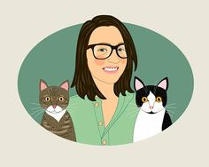 Cat lover gift. Custom Pet portrait. Cat lover #pets @EtsyMktgTool http://etsy.me/2y9USDc #customportrait #lilidiprima #giftforcatlovers