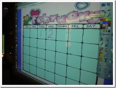 Smart Board Calendar Routine and student books. Smart Board Activities, Smart Board Lessons, Calendar Activities, Kindergarten Calendar, Kindergarten Learning, Teaching Math, Preschool, Teaching Resources, Weather Lesson Plans