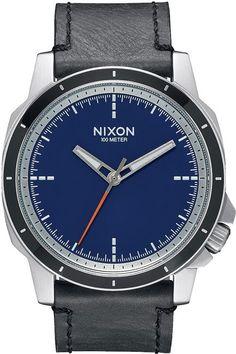 NIXON X POLER RANGER 45 LEATHER WATCH