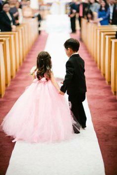 Sweet pink dress for flower girl