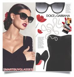"""""""SMARTBUYGLASSES contest"""" by meyli-meyli ❤ liked on Polyvore featuring River Island, Dolce&Gabbana, Christian Louboutin and smartbuyglasses"""
