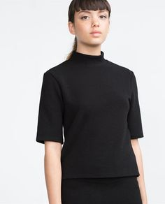 Zara United States, Online Sales, Tshirts Online, Passion For Fashion, Turtle Neck, T Shirts For Women, Sweaters, Collection, Black